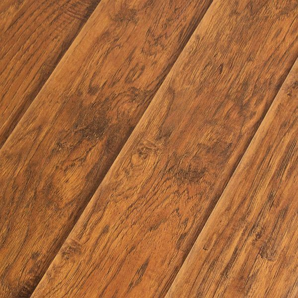Laminate Flooring 123mm Ac4 Scraped Feather Step Road House Hickory
