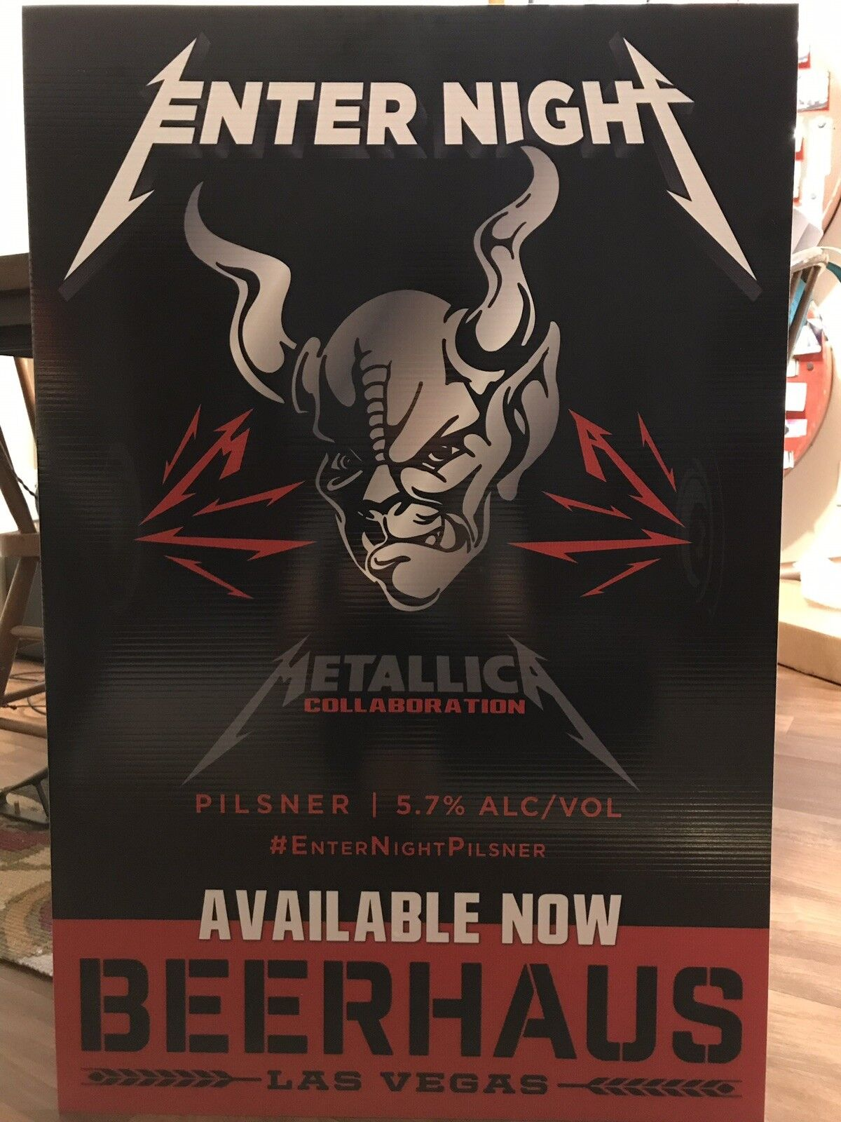 METALLICA ENTER NIGHT BEER PROMO LAS VEGAS RARE  ONE OF A KIND