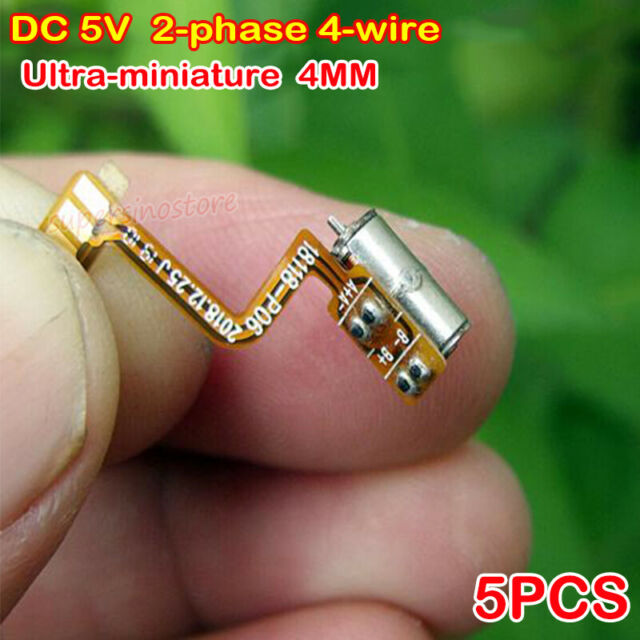 2Pcs 2-phase 4-wire 5*7mm stepper motor micro DC3V-5V motor with Long screw XS
