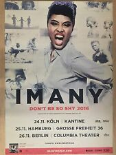 IMANY  2016 TOUR  + orig.Concert Poster -- Konzert Plakat  A1 NEU