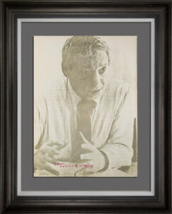 Louis-I-Kahn-Lt-Ed-Portrait-Lithograph-Hand-SIGN-w-Archival-Frame-Included