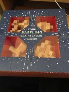 Brand New Quatre En Bois Déroutant Brain Teasers Beau Cadeau.-afficher Le Titre D'origine Prix ModéRé