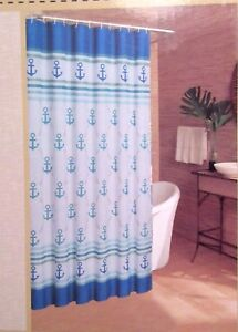 Image Is Loading Caribbean Joe NANCY ANCHOR Nautical Fabric Shower Curtain