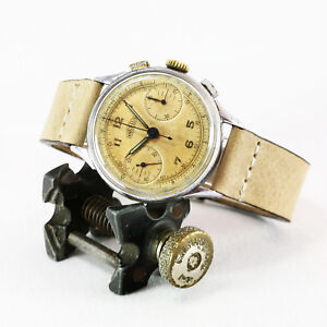 Early-Mid-1940-039-s-ANGELUS-Swiss-Vintage-Chronograph-Watch-Angelus-Cal-215