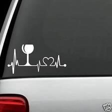 K1013 Wine Lover Glass Heartbeat© Lifeline Monitor Screen Decal Sticker Cork