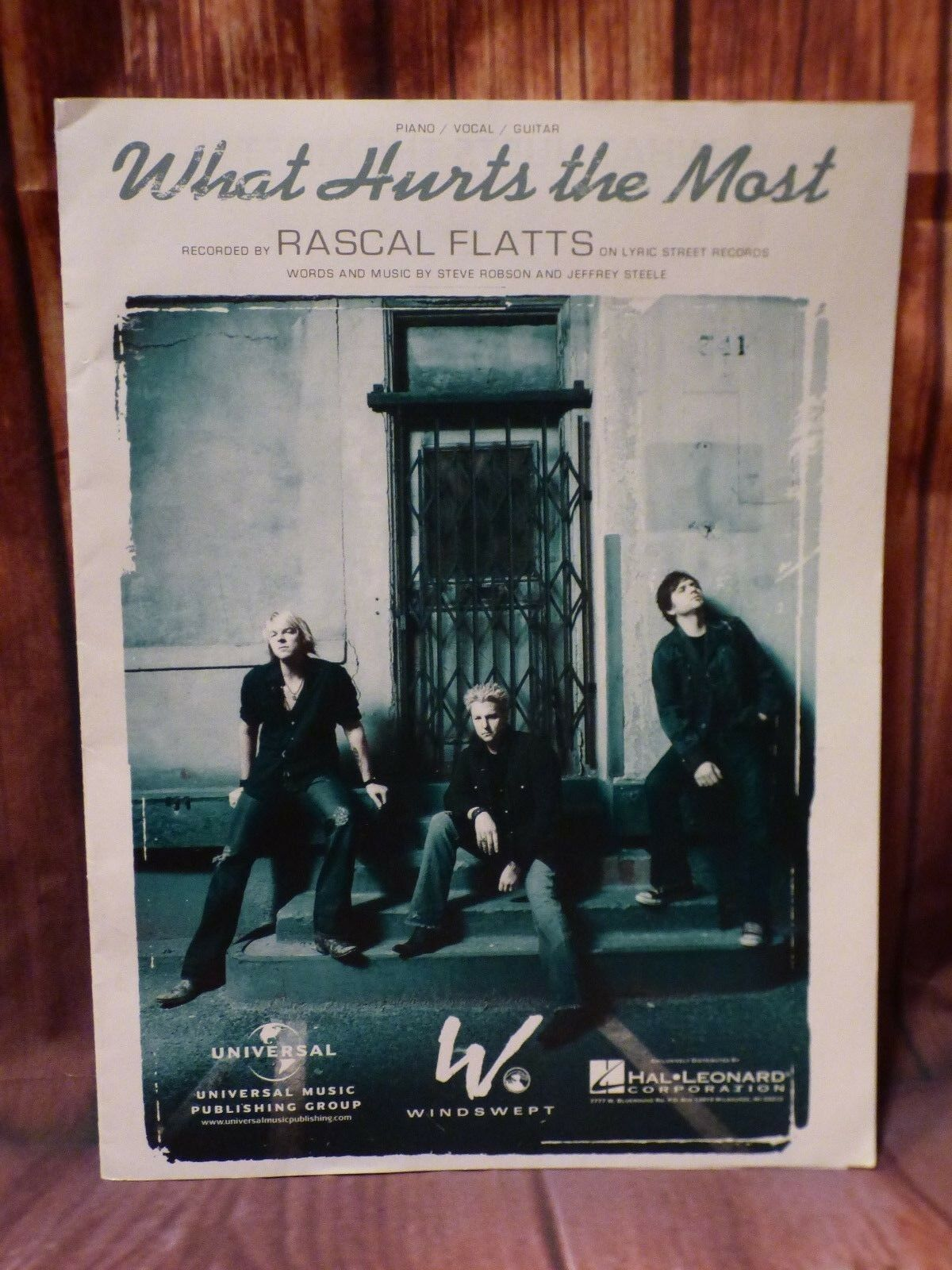 What Hurts The Most Song By Rascal Flatts Piano Vocal Guitar Sheet