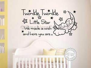 Twinkle Twinkle Little Star Nursery Wall Sticker Baby Boy Girl