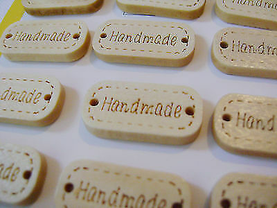 "NEW /""HANDMADE/"" CRAFT ADHESIVE PLAQUES EMBELLISHMENTS COLOURFUL OR NATURAL SIL"