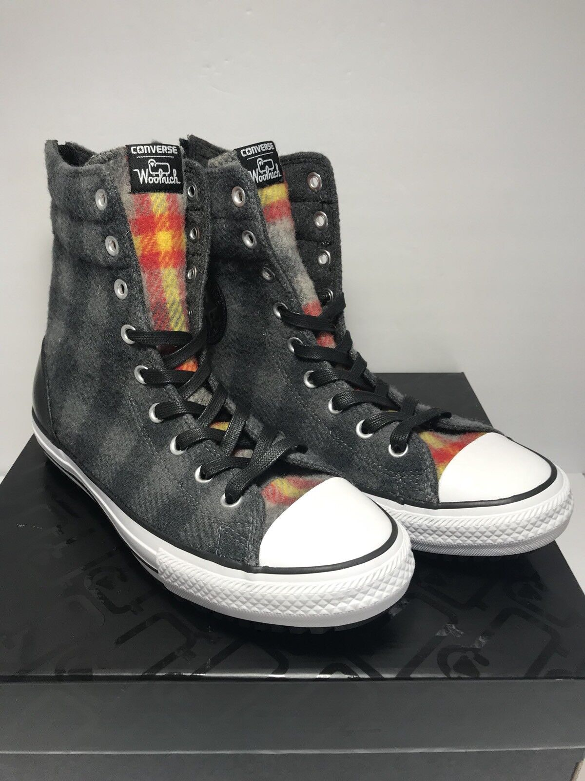 Converse Womens Size 10 CT Hi Rise Rise Hi Wool Winter Boots Thunder Plaid Shoes New 5e6db3