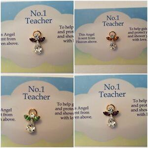 Pin-Angel-NO-1-Teacher-Broche-Pin-de-solapa-REGALO-RECUERDO-ESTILO-COLORES