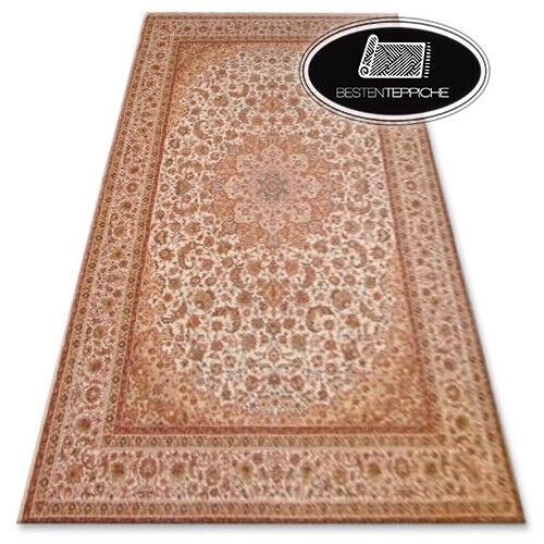 Tradicionalmente agnella alfombra 'Agnus' flores beige rojo de moda mejor calidad