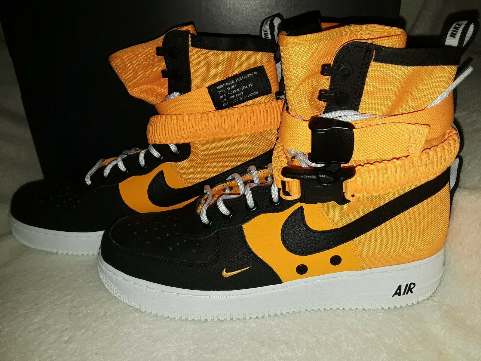 Nike SF Air Force 1 Mens 10 shoes Basketball Laser orange Black 864024 800