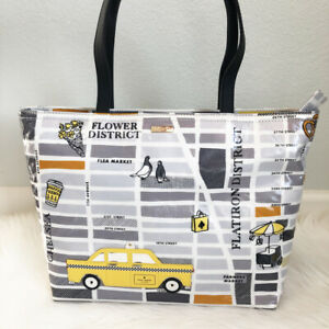NEW-KATE-SPADE-Nouveau-York-New-York-Francis-Street-Map-Taxi-Cab-Tote-Bag-Purse