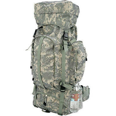 Heavy-Duty Camo Mountaineers Backpack, Mens Camping Hiking Outdoor Hunt Day Pack
