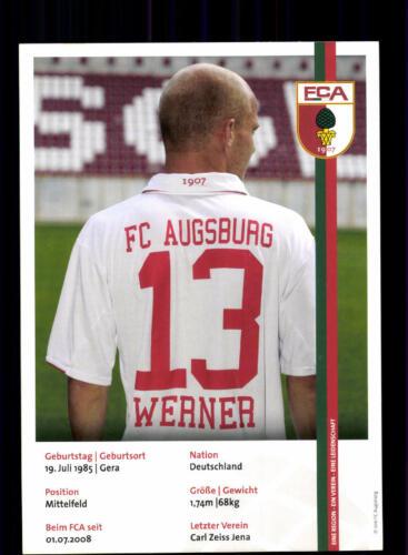 Tobias Werner Autogrammkarte FC Augsburg 2011-12 Original Signiert