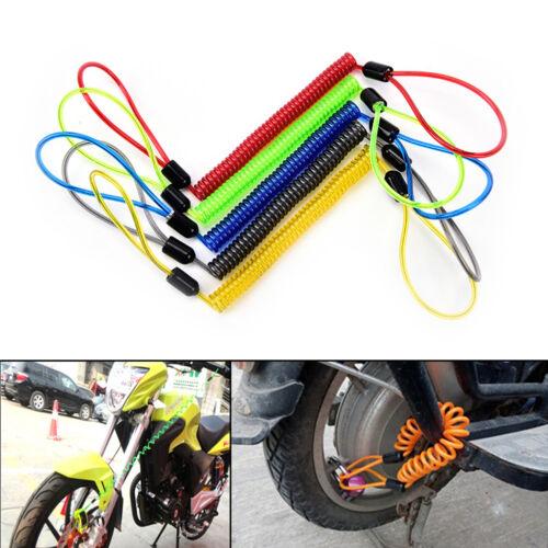 1.2m cable bike lock rope anti-theft Motorbike Disc Lock Security Reminder vv