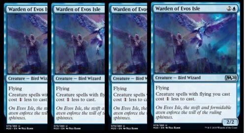 NM 4x Warden of Evos Isle M20 Core Set 2020 Blue Uncommon