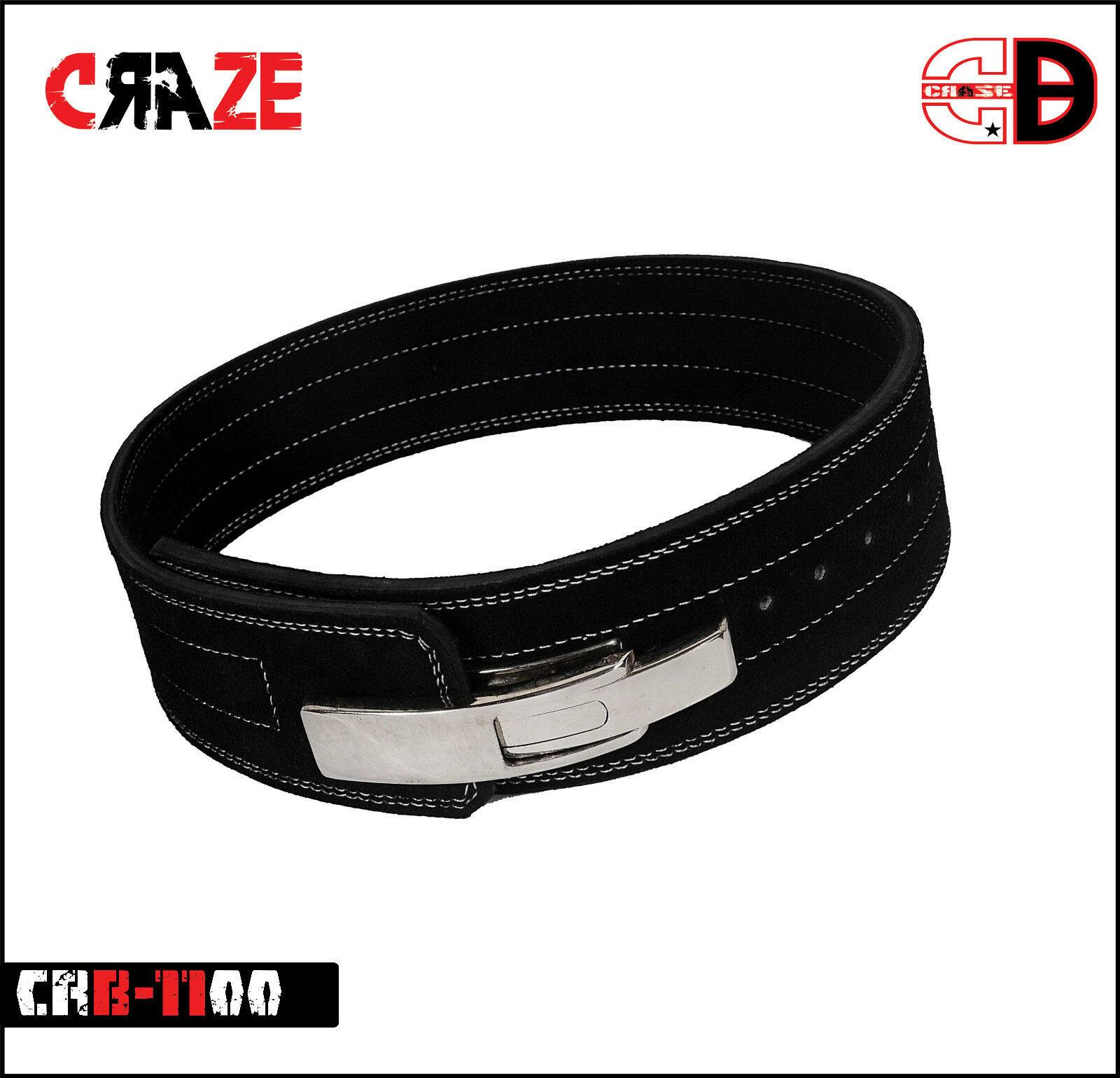 Weight Lifting Leather Lever Pro Belt Power BodyBuilding 4 wide 10 MM
