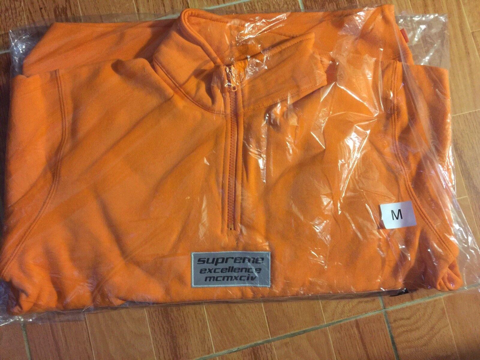 Supreme 3M Reflective Excellence Half Zip Sweat Orange Medium SS17