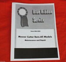 Sickle Mower Bar Service Manual International Harvester Farmall Cub C H M 1300
