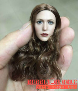 1//6 Elizabeth Olsen Scarlet Witch Head Sculpt For Hot Toys PHICEN SHIP FROM USA