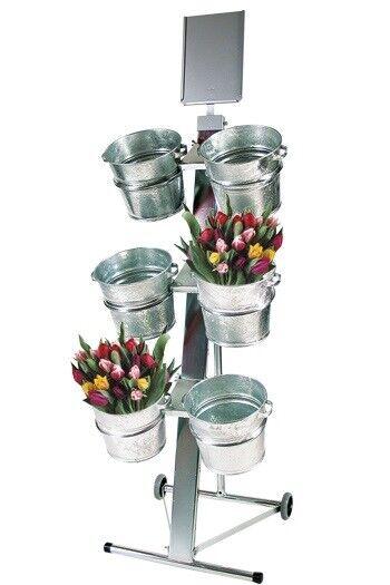 Blomster display, 6 spande  kr. 2338,- ex.moms