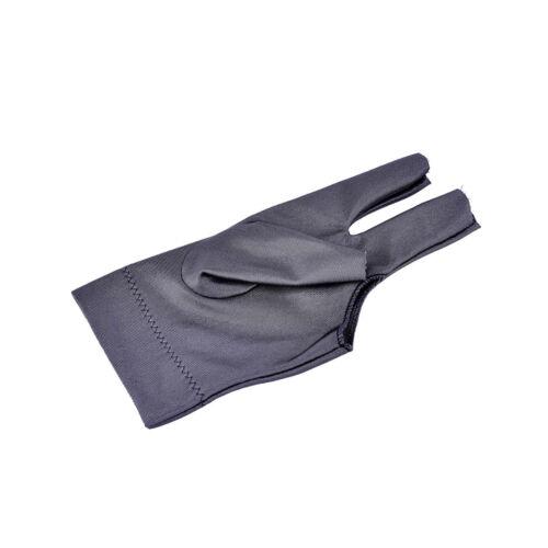 Grey Spandex Snooker Billiard Glove Pool Left Hand Open Three Finger