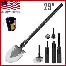 Military Portable Folding Shovel Multi Purpose Steel Spade Outdoor Survive Tool