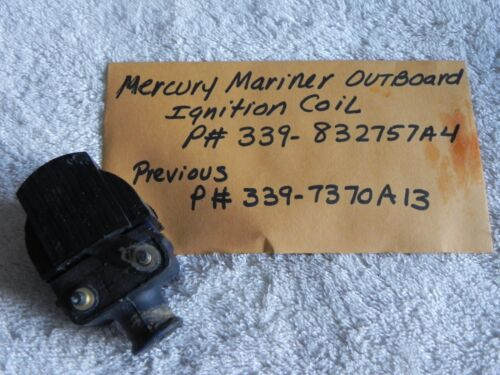 Mercury Mariner Outboard Ignition Coil P# 339-832757A4 Previous P# 339-7370A13