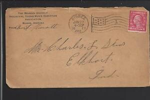 BISBEE, ARIZONA 1917 COVER, 2CT BUREAU ISSUE COIL. ADVT FOR Y.M.C.A.