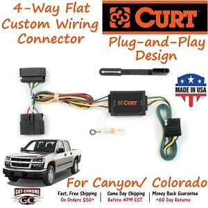 Peachy 55510 Curt 4 Way Flat Trailer Wiring Connector Harness Fits Canyon Wiring 101 Ouplipimpapsstreekradiomeanderfmnl