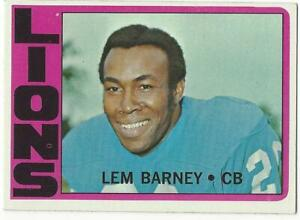 LEM-BARNEY-1972-Topps-42-NM-MT-NFL-Detroit-Lions-HOF