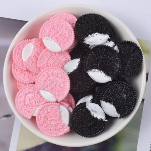 10Pcs Diy Cookie Slime Charms Supplies Slime Accessories Filler Biscuits Sweets