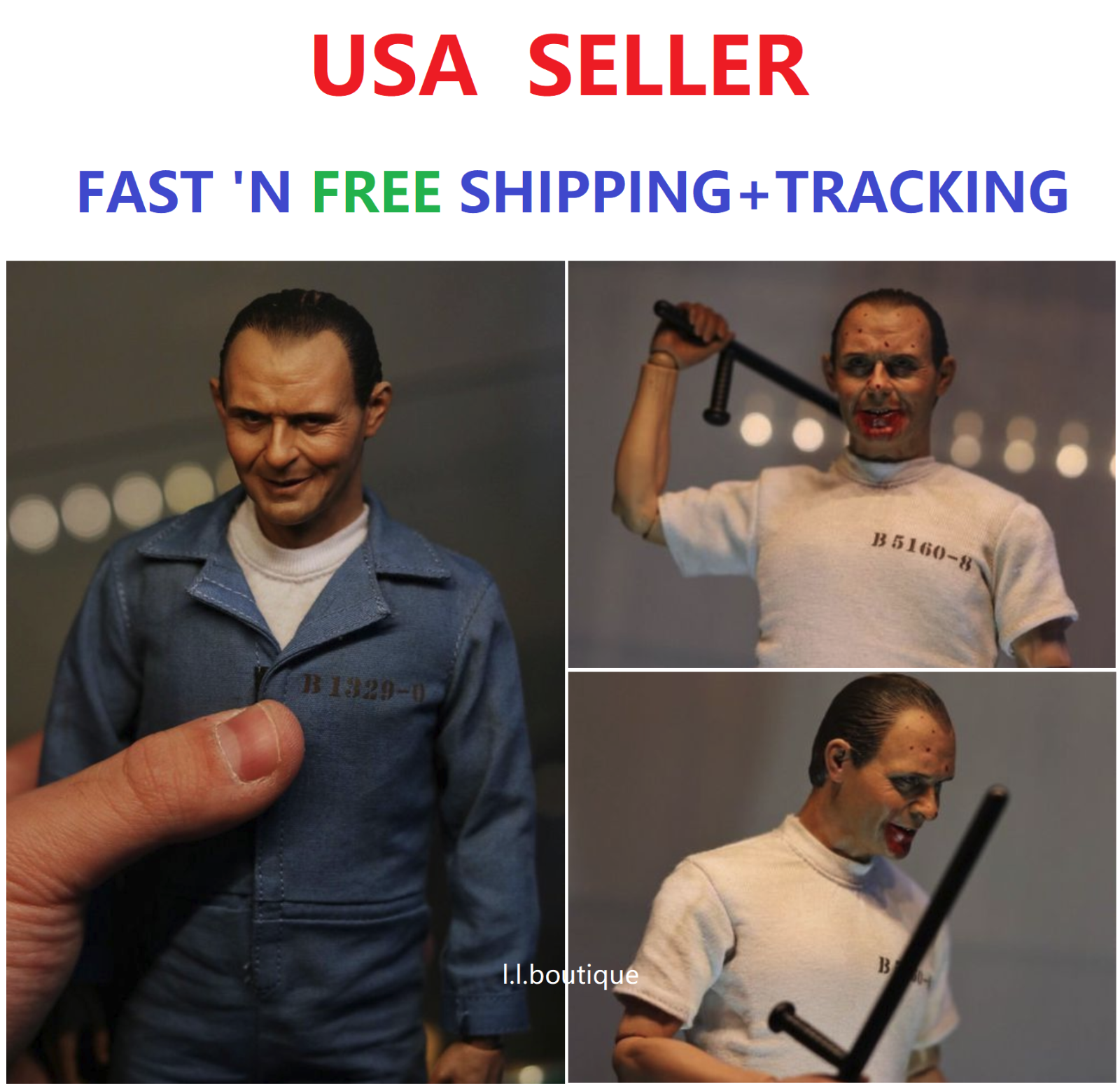 1 6 The Silence of the Lambs Dr Hannibal Anthony Hopkins 2.0 FULL Figure Set