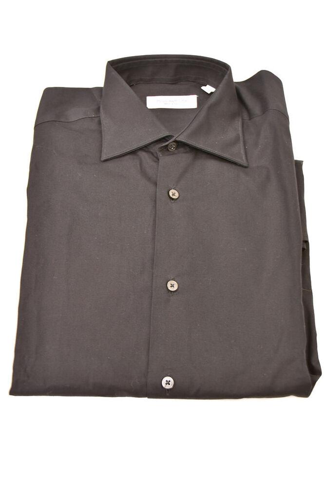 Actif Poggianti 1958 Homme Authentique Chemise à Manches Longues Taille S Noir Facile à Lubrifier