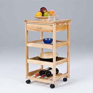 Sobuy carrello da cucina carrello in legno carrello scaffale da cucina 42x37x75cm fkw01 n ebay - Scaffale cucina ...