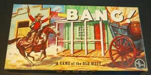 Normalmente ojo Asia  1956 Bang! un juego del viejo oeste Selchow & Righter juego nunca jugado