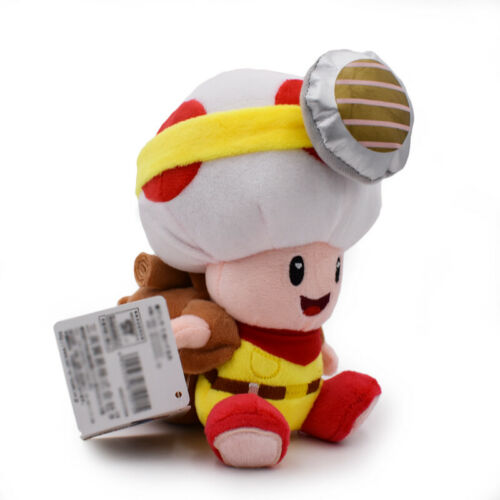 "8/"" Anime Captain Toad Plush Stuffed Toy Treasure Tracker Doll Kids Xmas Gift"
