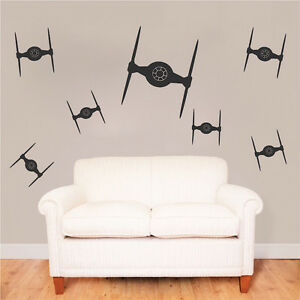 Image Is Loading Tie Fighter Bedroom Kit Decals Star Wars Wall