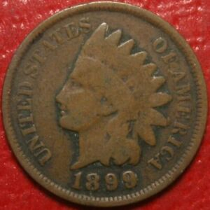 1899-Indian-Head-Cent-Penny-CIRCULATED-US-Coin