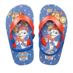 f26e2fb16544d NEW toddler boy PAW PATROL thong CHASE & MARSHALL strap FLIP FLOP ...