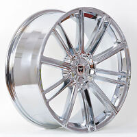 4 Gwg Wheels 22 Inch Staggered Chrome Flow Rims Fits 5x115 Dodge Challenger