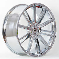 4 Gwg Wheels 22 Inch Staggered Chrome Flow Rims Fits Dodge Charger 2005 - 2017