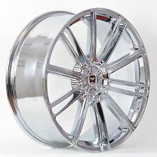 4 GWG Wheels 22 inch STAGGERED Chrome FLOW Rims fits FORD MUSTANG ECOBOOST I4 W