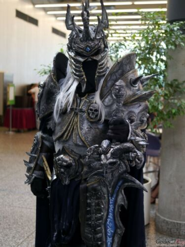 LICH KING ARTHAS SCALA 1:1 INDOSSABILE COSPLAY Costume, armatura, Warcraft