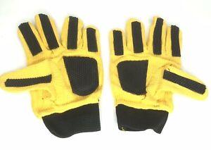 Kids-Childs-Unisex-Yellow-Gloves-with-Black-Rubber-Grips-Football-Gardening-Work