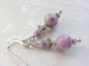 Lepidolite-Earrings-Love-Stone-Sterling-Silver-Engagement-Mom-Gift-Mothers-Day