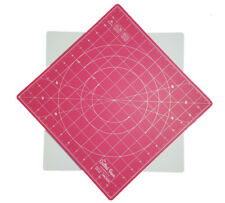 """Quilted Bear 360° Rotating Self Healing Cutting Mat 12"""" x 12"""" (inches) in Pink"""