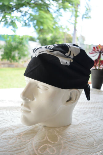 headwrap N03 100/% Cotton /'SKULL BANDANA/' Free Postage Headwear 55cm x 55cm