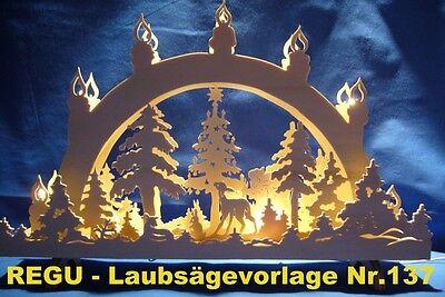 """REGU Laubsägevorlage Nr.126 für Schwibbogen /""""Weihnacht steht vor der Tür/"""""""